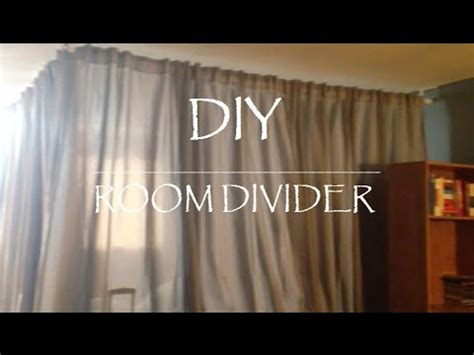 Ikea Room Divider Curtain by Diy Room Divider For Under 100 Youtube