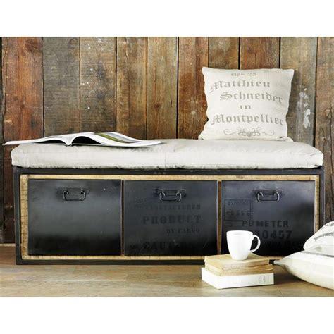 chambre style urbain banquette 2 places en coton gris clair manufacture