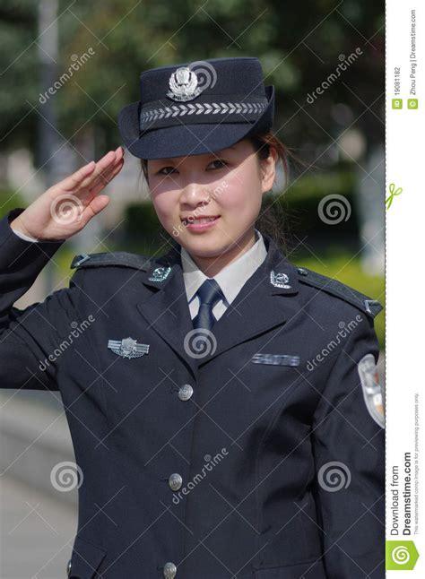 Beautiful Policewoman Stock Photography Image