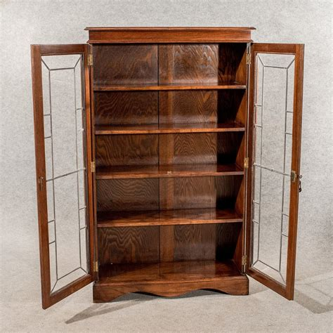 Bookcase China Cabinet by Antique Oak Display Bookcase China Cabinet Quality