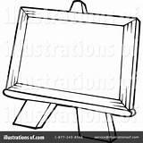 Easel Clipart Illustration Visekart Royalty Rf Clipartmag sketch template