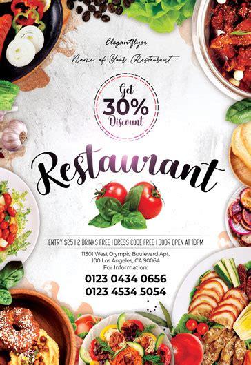 restaurant  flyer psd template  elegantflyer