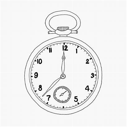 Pocket Watches Template Coloring Graphic Pages Sketch