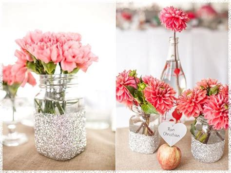 simple wedding centerpieces inspirations diy simple wedding centerpieces with pink flowers the apple orchard wedding of