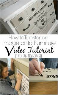 How to Transfer Graphics onto Furniture