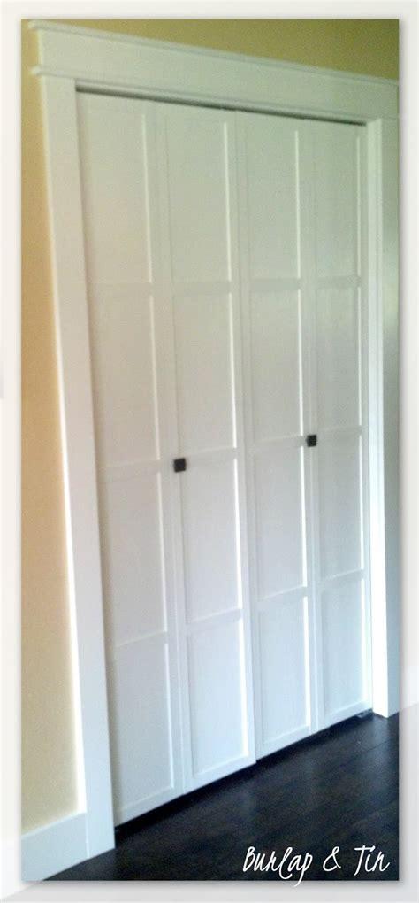 How To Make Bifold Closet Doors by Remodelaholic 40 Ways To Update Flat Doors And Bifold Doors