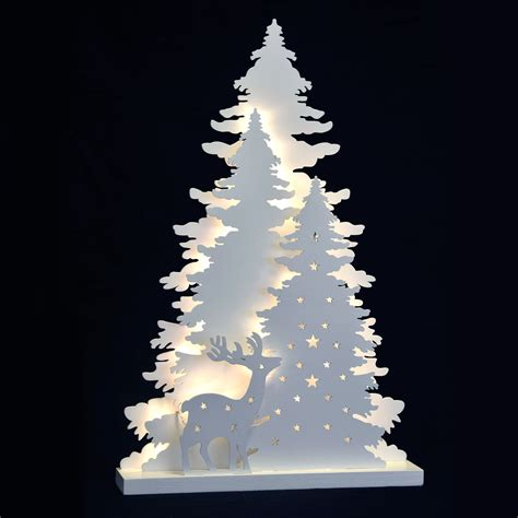 christmas white light  decoration reindeer trees