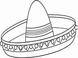 Sombrero Coloring Mexican Drawing Pages Colouring Template Getdrawings Lovely Templates Drawings Sketch Paintingvalley sketch template