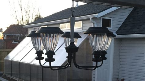 build a low cost diy outdoor solar chandelier growing