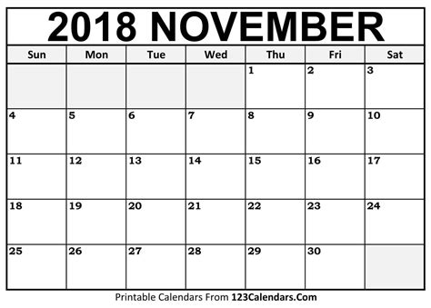 Printable November 2018 Calendar Templates  123calendarscom. Lease Agreement Template Word Free Download Photo. Word Template For 3x5 Index Cards Template. Pics Of Cover Letters Template. Magazine Template Free. Walk A Thon Fundraisers Template. Wedding Reception Seating Arrangement Template. Word Gift Certificate Template Free Template. Personal Business Card Examples Template