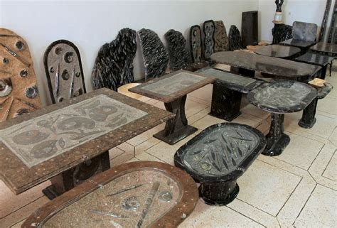 31787 made order furniture original fossil tables in erfoud original marble fossil tables in