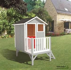 Maison Enfant Jardin : maisonnette enfant en bois louise cabane sur pilotis pas cher egt ~ Preciouscoupons.com Idées de Décoration