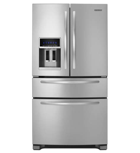 electrolux fridge freezer kitchenaid 25 cu ft standard depth four door