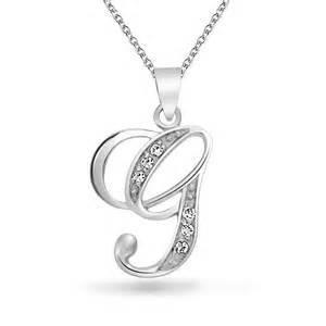 Cursive Letter G Necklace
