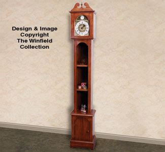 decorative indoor grandfather clock wood plans