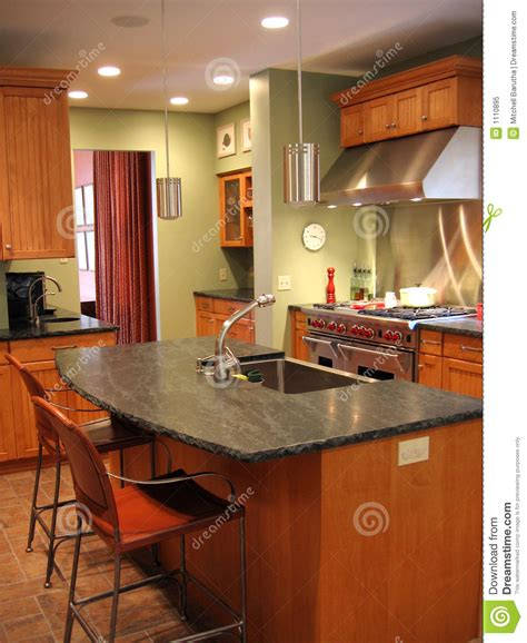 Remodeled, Kitchen Royalty Free Stock Photo  Image 1110895