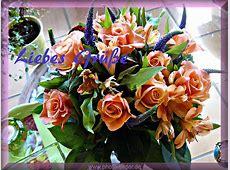 Zum Geburtstag Bilder mit einem Blumenstrauß Liebesgrüße