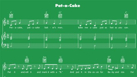 pat  cake sheet  mother goose club