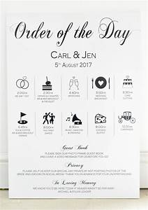 wedding timeline order of day sign With wedding invitation relationship timeline