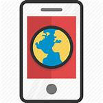 Internet Android Icon Communication Globe Vectorified Mobile