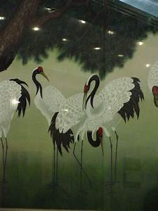 [Animal Art] Traditional Korean Painting of Red-crowned ...