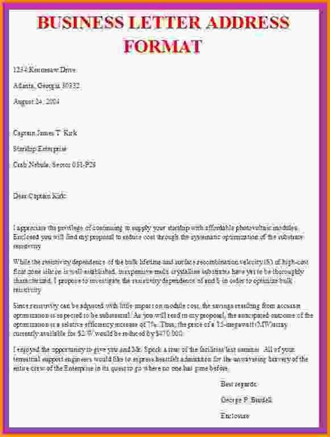 sle business letter format with addressing a business letter properaddress gif letter