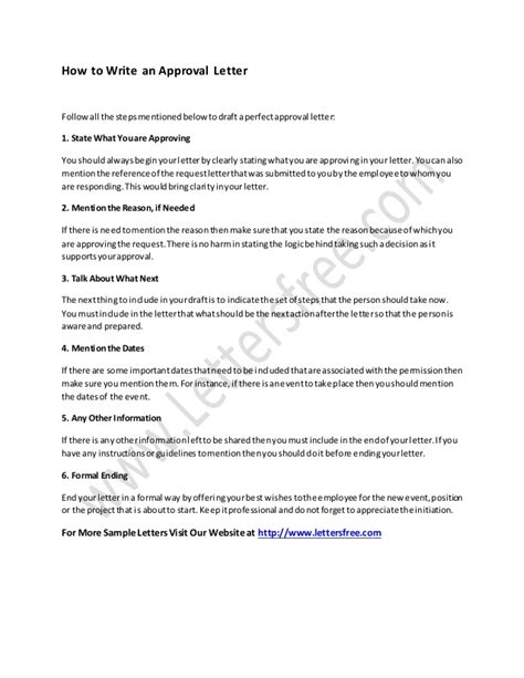 how to write a letter about yourself how to write an approval letter 43607