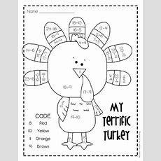 """my Terrific Turkey"" Free Addition & Subtraction Worksheet"