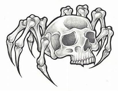 Spider Skull Tattoo Drawing Tattoos Wicked Stencil