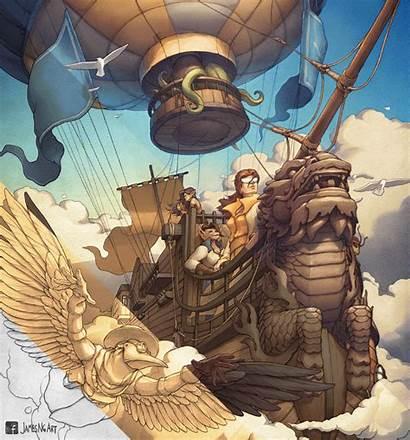 Steampunk Revolution Airship Ng Ship James Brass