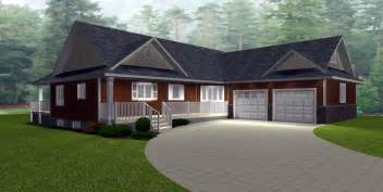 one story house plans with walkout basement bungalow house plans by e designs page 11