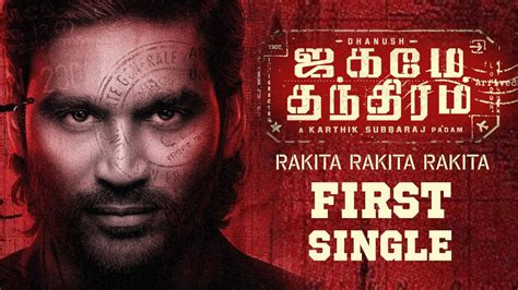 When a clever, carefree gangster is recruited to help an overseas crime lord take down a rival, he is caught off guard by the moral dilemmas that follow. Jagame Thandhiram Official First Single 'Rakita Rakita ...