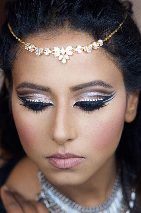 double cut crease bling makeup  indian bridal makeup boston