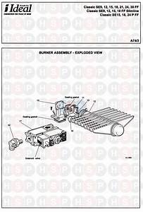 Ideal Classic Se15 Ff Slimline  Burner  Diagram