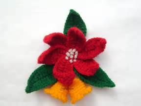 christmas craft ideas crochet poinsettias craft ideas