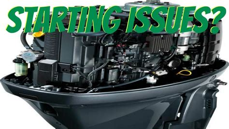 Boat Engine Turns But Wont Start yamaha outboard cranks but won t start will not turn on