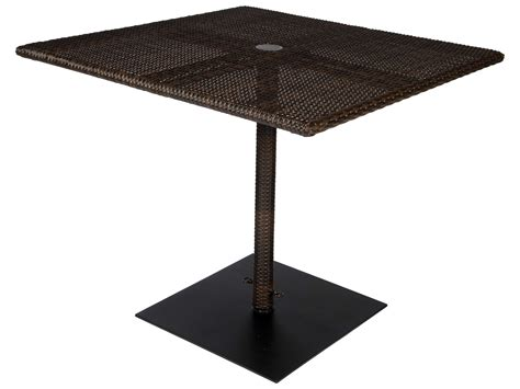 square patio table with umbrella woodard whitecraft all weather 36 square table with