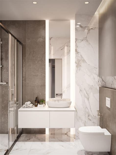 Modern Marble Bathroom Ideas by Home Design 60 Square Meters 3 Exles That
