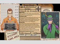 Arkham Files The Riddler by Roysovitch on DeviantArt
