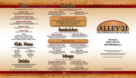 The original mcdougals started when tommy mcdougal signed a lease at an old, small 1,000 sq. Online Menu of Alley 21 Grille Restaurant, Hillsboro, Ohio, 45133 - Zmenu