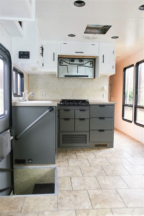 kitchens with painted cabinets the progress of our rv kitchen cabinets mountain modern 6639