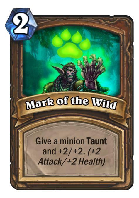 mark of the wild hearthstone card