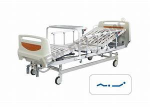 Luxury Manual Medical Hospital Beds With Rails    Center