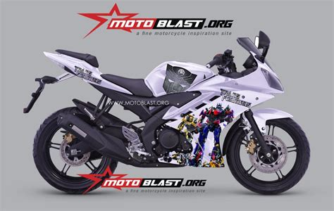 R15 Modif by Modif Striping Yamaha R15 Versi Transformer