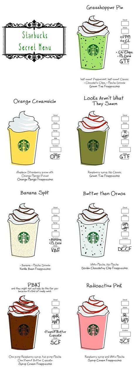 While the starbucks secret menu isn't a real menu that starbucks employees are required to learn, they're almost always happy to create your unique drink if you're able to tell them the ingredients and steps involved. starbucks secret menu - Поиск в Google | Starbucks secret menu, Secret menu