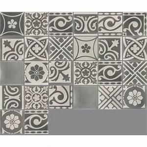 Sol Stratifié Carreau De Ciment : carreau de ciment sol et mur gris fonc et clair patchwork ~ Edinachiropracticcenter.com Idées de Décoration
