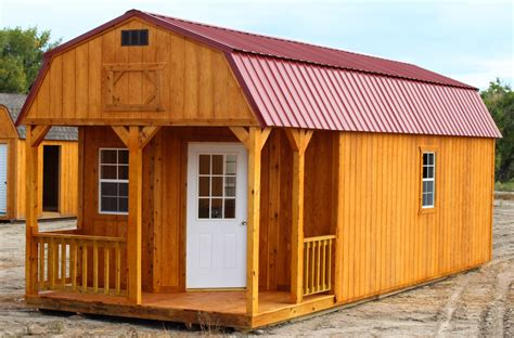 Barn With Porch by Deluxe Lofted Barn Cabin Cumberland Buildings Sheds