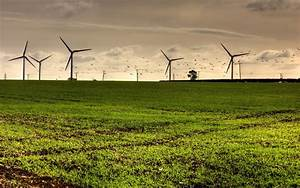 Green grassland giant wind wheel amazing HD Wallpapers Rocks