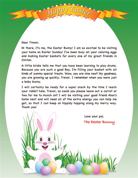 personalizd easter bunny letter projects