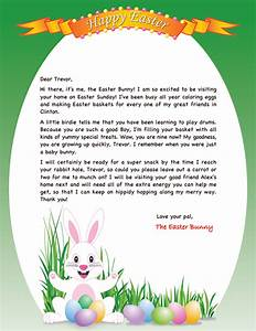 personalizd easter bunny letter easter bunny letters With letter to easter bunny template